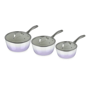 Fearne by Swan SWPS3015LYN 3 Piece Forged Enamel Pan Set - Lily