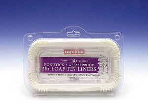 Caroline Loaf Tin Liners Siliconised Pkt40