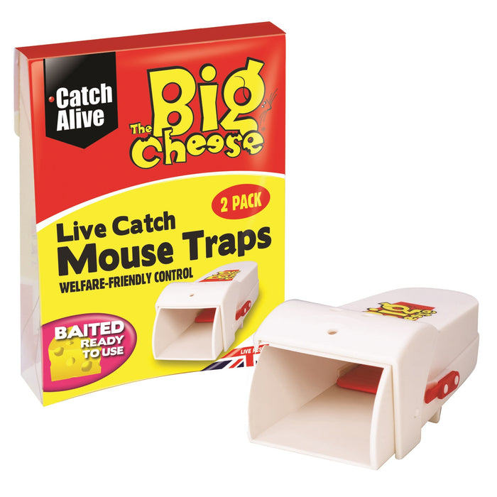 The Big Cheese STV155 Live Catch Mouse Trap Pkt2