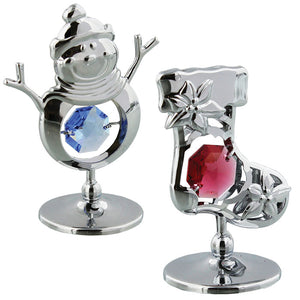 Crystocraft Christmas Chrome Plated Ornaments