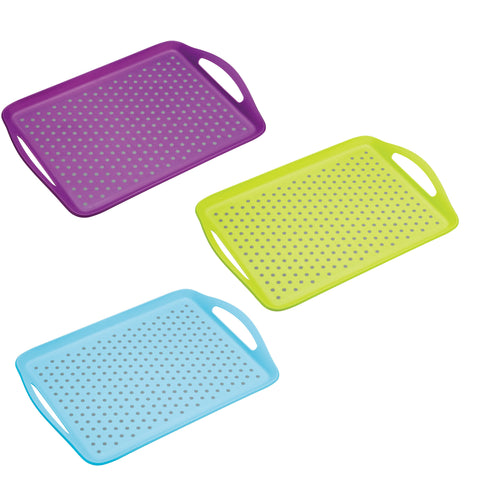 Colourworks Anti-Slip Serving Tray - Various Colours