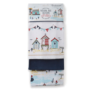 Cooksmart Beside The Seaside Tea Towels - 3Pkt