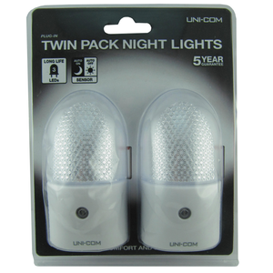 Uni-Com 61663 Night Lights  Twin Pack