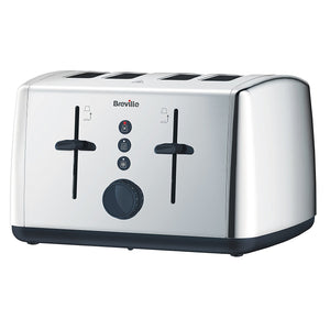 Breville VTT549 Vista Collection Toaster 4 Slice Polished Stainless Steel