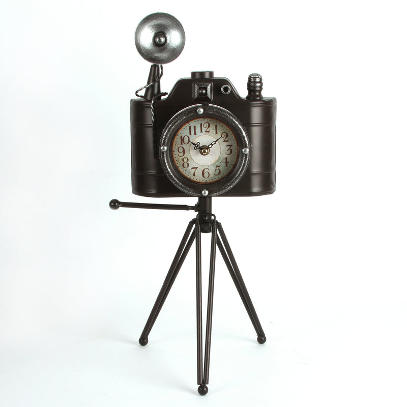 Hometime W2628 Metal Mantel Clock - Camera