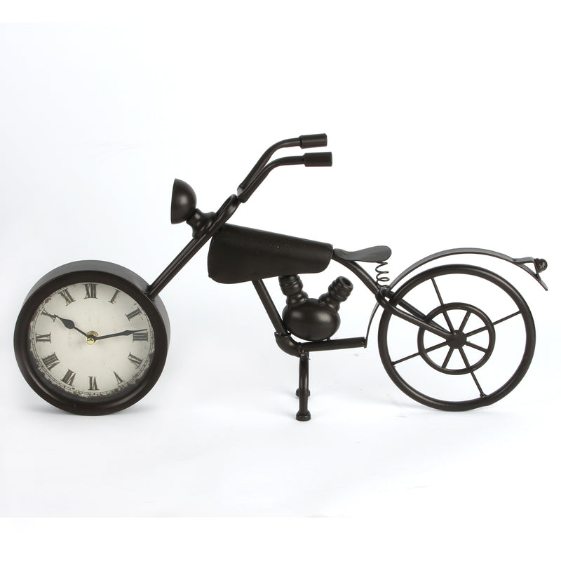 Hometime W2632 Metal Mantel Clock - Motorbike