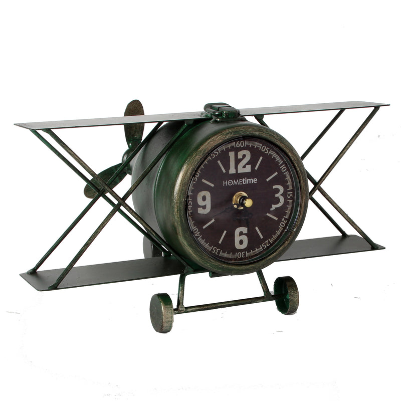 Hometime W2796 Metal Mantel Clock - Aeroplane