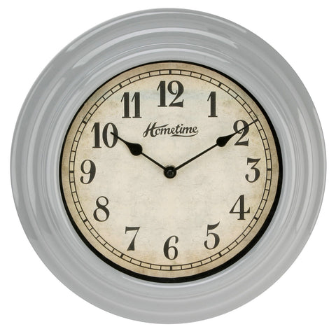 Hometime W6867G Wall Clock UV Finish Grey 30cm
