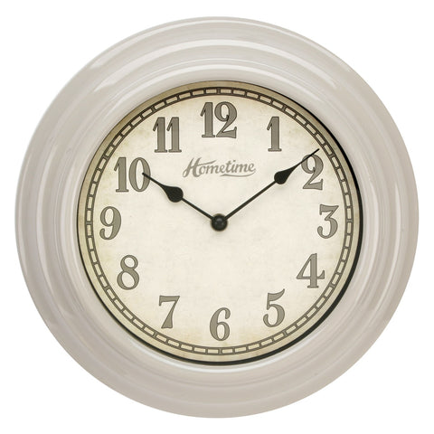 Hometime W6867L Wall Clock UV Finish Beige 30cm