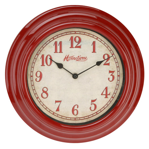 Hometime W6867R Wall Clock Red 30cm