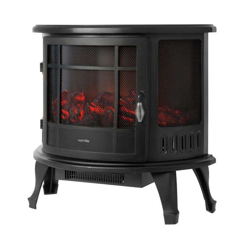 Warmlite WL46017 1800w Log Effect Stove Fire with Thermostat