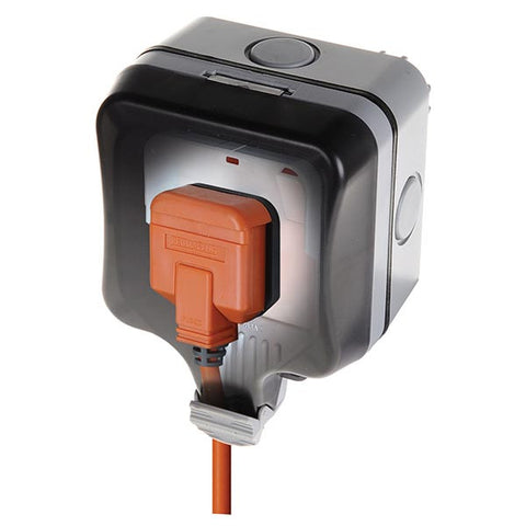British General JF400 (WP21) IP66 13Amp 1Gang Switched Outdoor Socket