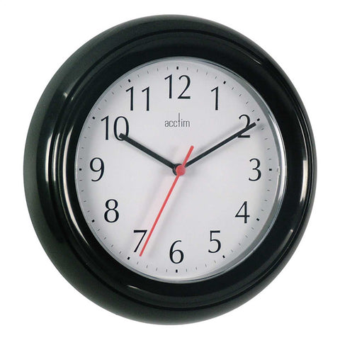 Acctim 21413 Wycombe Wall Clock 22cm - Black