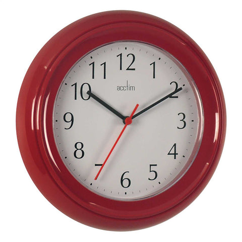 Acctim 21414 Wycombe Wall Clock 22cm - Red