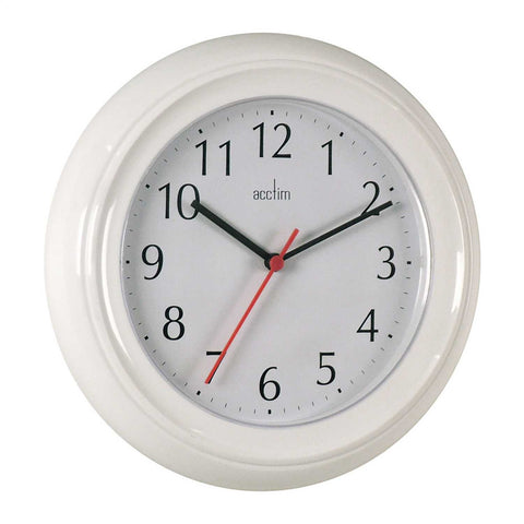 Acctim 21412 Wycombe Wall Clock 22cm - White
