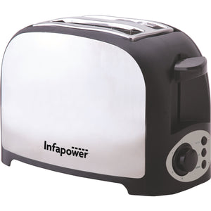 Infapower X553 Toaster 2 Slice Brushed Stainless Steel