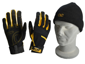 C.L.C KUNGLOVES Flexible Work Gloves & Beanie Hat