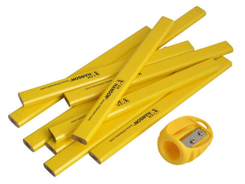 Carpenter Pencils Tub 10 + Sharpener CHH00213 XMS16PENCILS