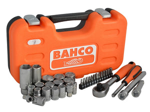 Bahco S330 Socket Set of 34 Metric/Imperial 1/4 & 3/8in Drive