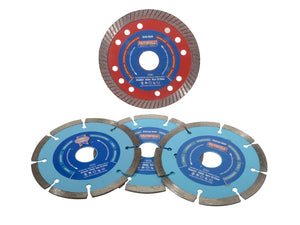 Faithfull FAIDBSET4CT 115mm Diamond Blade Set 4 Piece