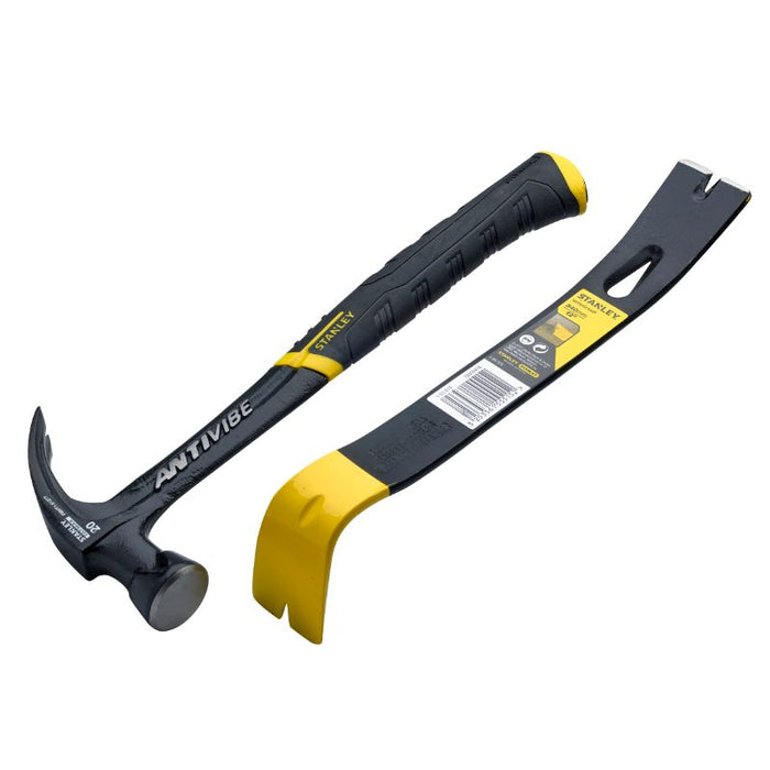 "Stanley 20oz Antivibe Hammer with 15"" Wonder Bar"