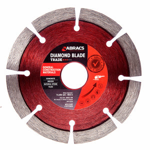 Abracs ABDD115M Trade General Construction Materials Diamond Blade 115mm