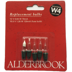 Noma Alderbrook AK0380C Replacement Lamps - W4 Clear