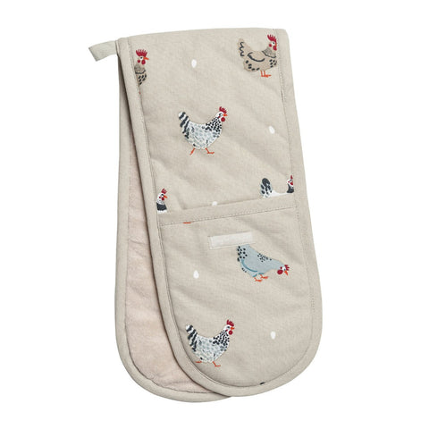 Sophie Allport ALL37100 Double Oven Glove - Lay A Little Egg Hen