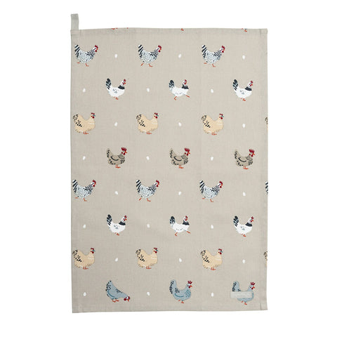 Sophie Allport ALL37601 Tea Towel - Lay A Little Egg Hen