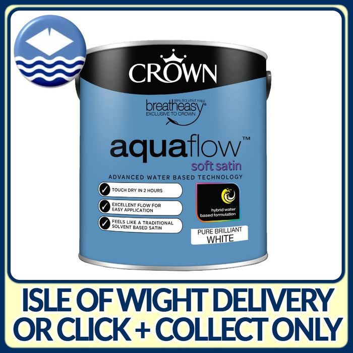 Crown Aquaflow Soft Satin White 750ml
