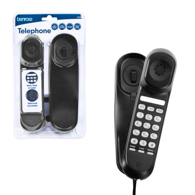 Benross 44550 Slimline Corded Telephone - black