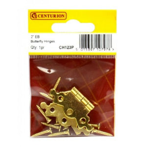 "Centurion CH123P EB Butterfly Hinges - 2"" (50mm)"