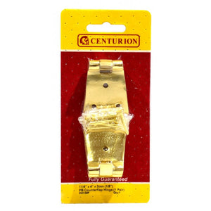 Centurion CH139P Pair of Counterflap hinges - Brass