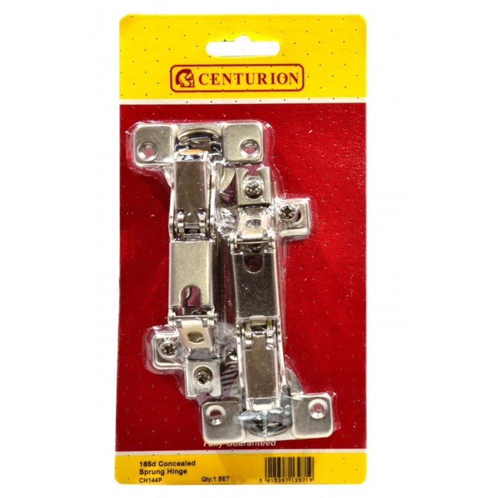 Centurion CH144P Pair of Sprung Concealed Hinges - NP 165deg 35mm