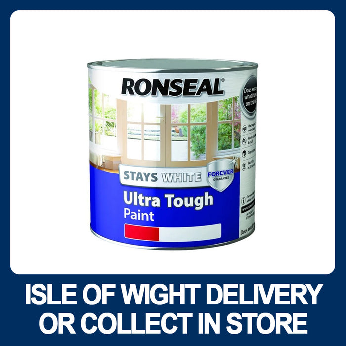 Ronseal Stays White Ultra Tough Satin 750ml Pure Brilliant White