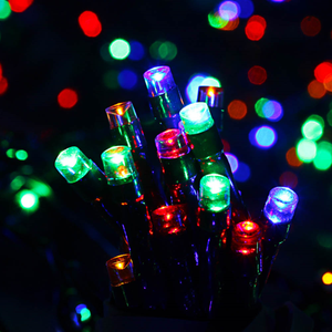 Dusk Till Dawn SLSL4 50 LED Solar Powered String Lights - Multi Coloured