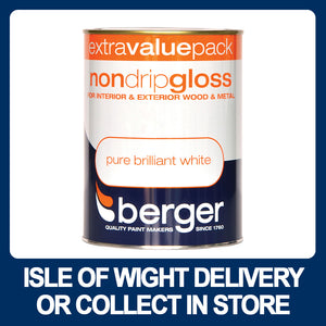 Berger Non-Drip Gloss 1.25ltr - Pure Brilliant White