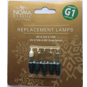Noma Classic 0344C Replacement Lamps - G1 Clear