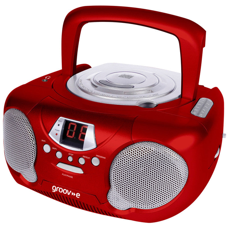 Groove GV-PS713-RD Boombox CD Player & Radio Red