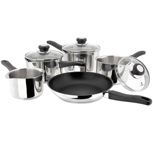 Judge Vista J3C1 Cook & Strain Saucepan Set 5 Piece