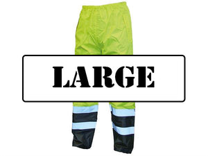 Scan Hi-Vis Motorway Trouser Yellow Black