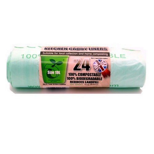 Ecobag 228 Compostable Caddy Liners 10Ltr - Pack of 24