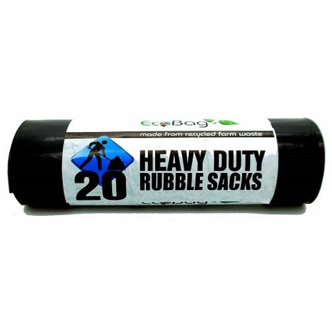 EcoBag 234 Heavy Duty Rubble Sack Black - Pack 20