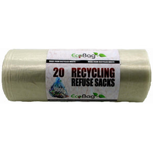 Ecobag 232 Recycling Refuse Sacks 100Ltr - Pack of 20