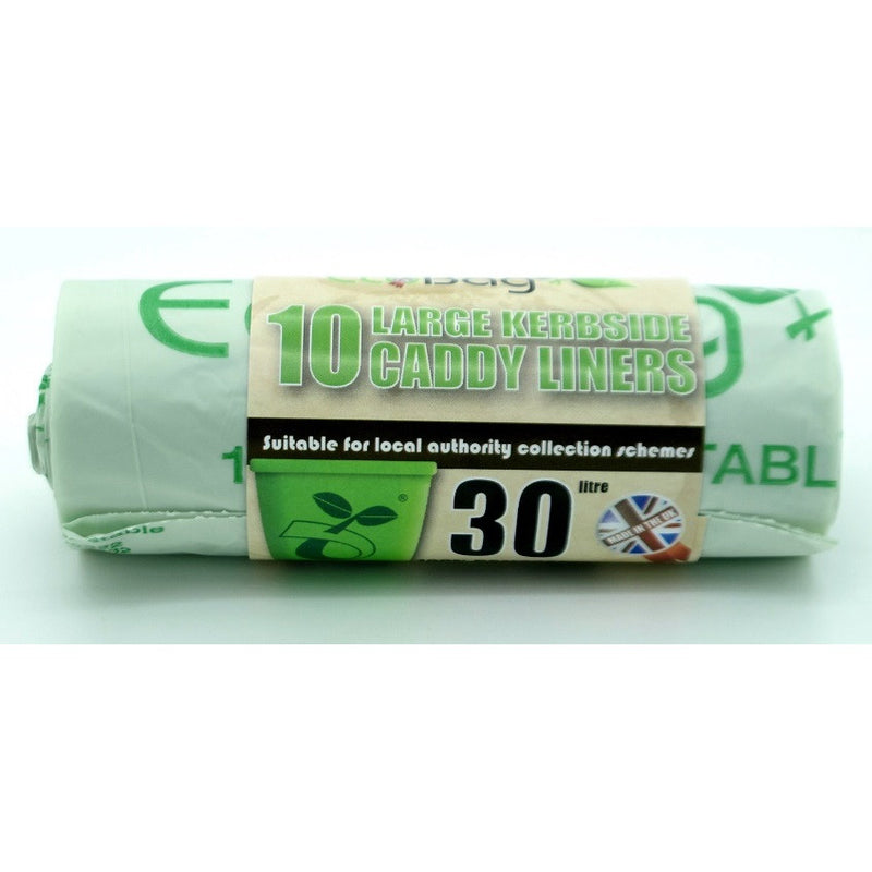 Ecobag 237 Large Kerbside Caddy Liners 30Ltr - Pack of 10