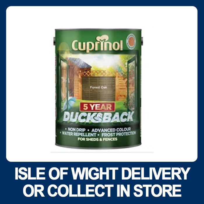 Cuprinol 5 Year Ducksback Shed & Fence 5 Litre - Various Colours