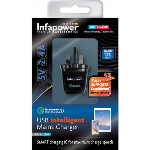 Infapower P029 USB Intelligent Mains Qualcomm Quick Charger 5v 2.4A
