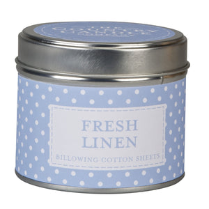 Polka Dot POLKFL-70245 Fresh Linen Scented Candle in a Tin