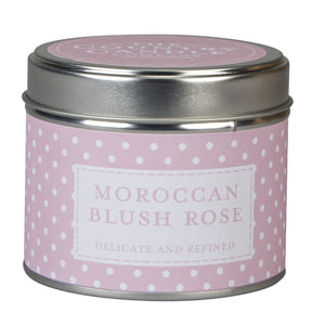 Polka Dot POLKMBR-70306 Moroccan Blush Rose Scented Candle in a Tin