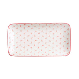 Sophie Allport PRP3801 Patterned Plate - Flamingo